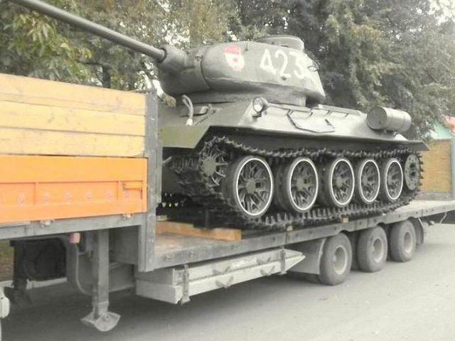 Перевезення музейного експонату – танк Т34